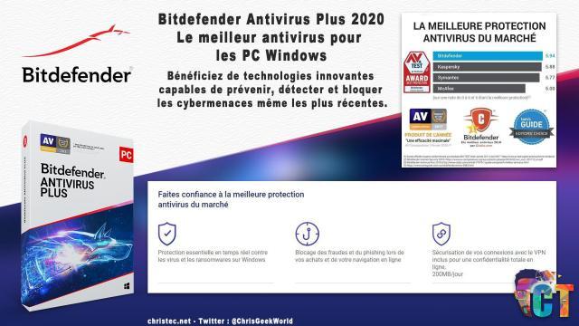 Le top des antivirus de 2020 avec Bitdefender Antivirus Plus