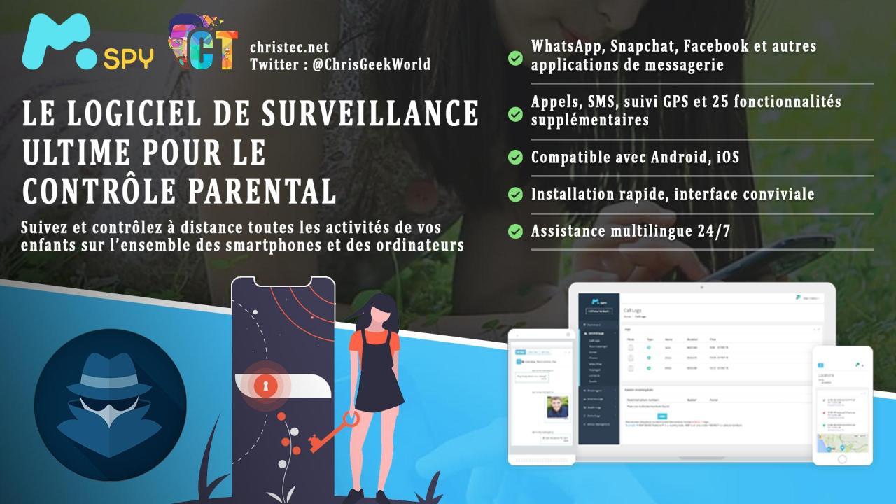 mSpy le top des logiciels espions de contrôle parental pour smartphone