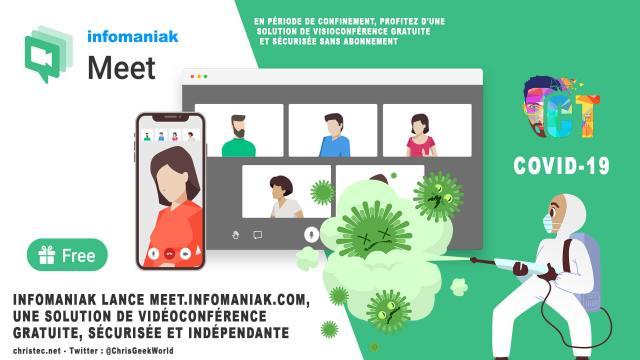 Infomaniak lance meet.infomaniak.com, une solution de vidéoconférence gratuite, sécurisée et indépendante