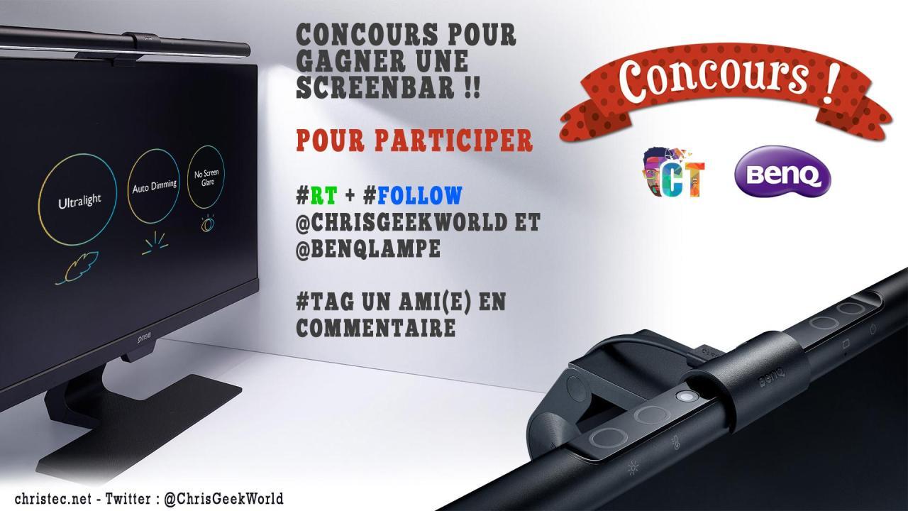 Voici le gagnant du concours twitter pour gagner la Screenbar de BenQ + bon de réduction