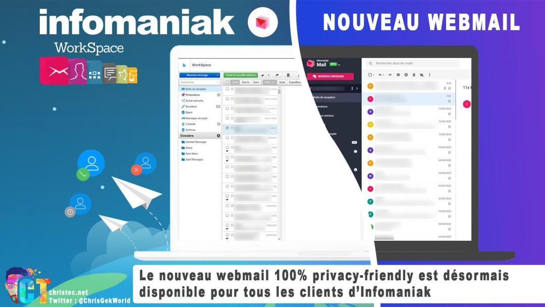 Infomaniak lance son nouveau webmail 100% privacy-friendly