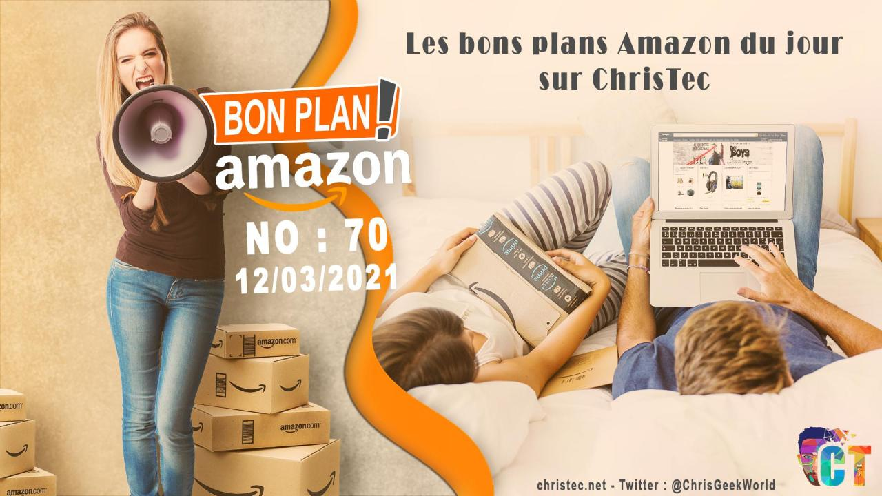 image en-tête Bons Plans Amazon (70) 12 / 03 / 2021