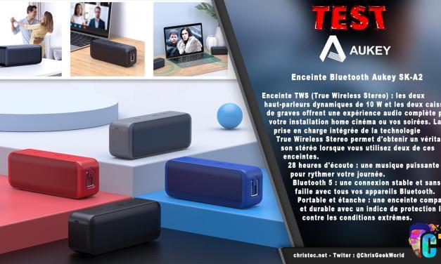 Test de l'enceinte Bluetooth Aukey SK-A2 portable et étanche