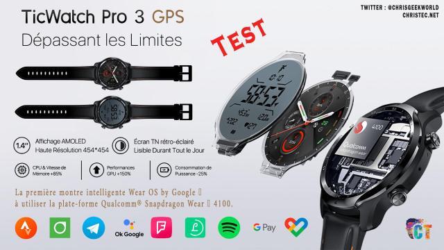 Test de la Ticwatch Pro 3 GPS : La montre connectée avec 2 écrans
