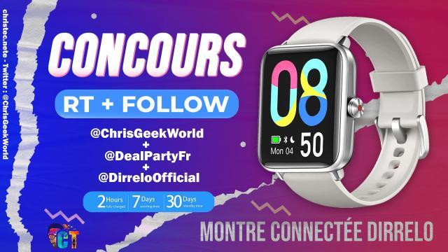 Concours twitter pour gagner une montre connectée Dirrelo GT01