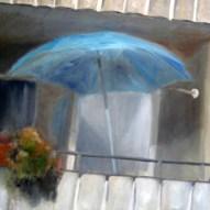 Balkonien 80x100cm Öl/LW 2011