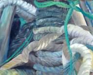 Die Netze vergessener Fischer 40x50cm Öl/LW 2014