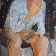 Müde Acryl/Papier 2008