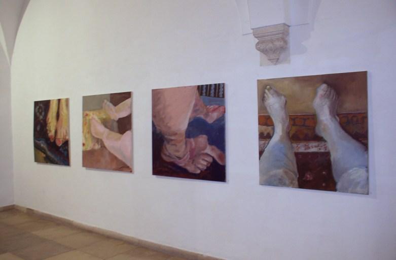 """""""Ansichtssache"""", Rathausfletz Neuburg 2005, mit Inge Schneider"""