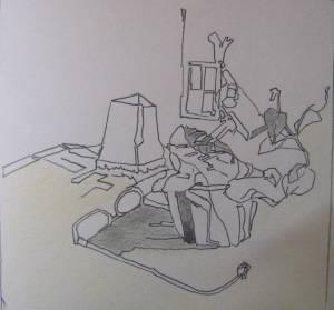 Zeichnung   21x21  Bleistift  2012