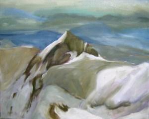 Gipfelglück  Acryl/LW  40x50cm  2012