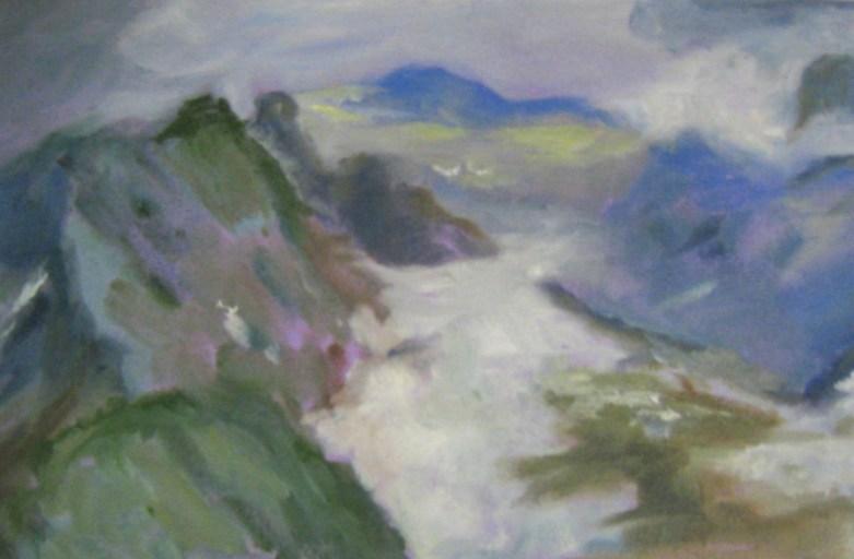 Berge  Öl/Papier  2012