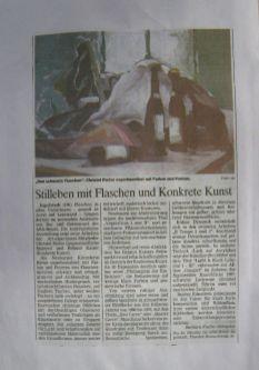 1998 ARA Ingolstadt,Flaschen im Hotel,Einzelausstellung