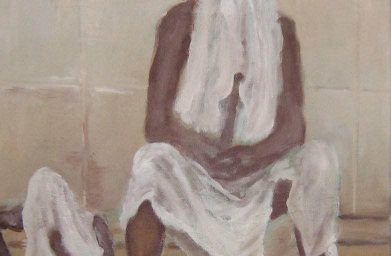 Hamam, 40 x 40 cm, Acryl/LW, 2017