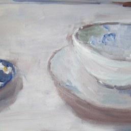 Zwei trübe Tassen, 30x60cm, Acryl/LW, 2017