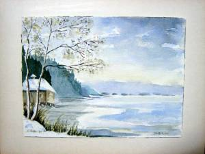 Am Staffelsee  Aquarell
