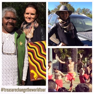 Christel had treasured conversations and meetings w Aboriginal leaders in Australia