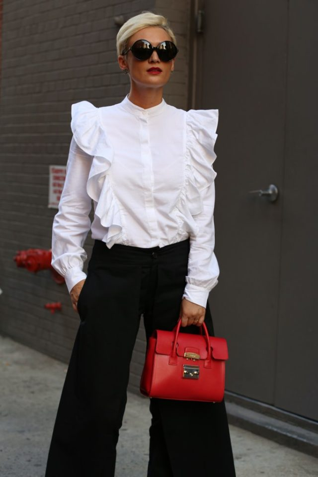 victorian-blouse-ruffles-wide-leg-pants-nyfw-street-style-ps-fall-work-outfit-640x960