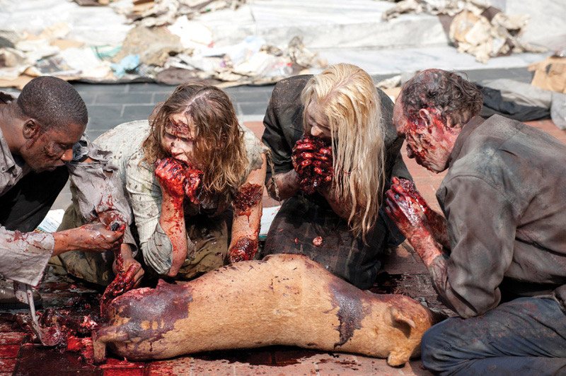 Zombies eating