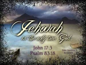 jehovah-is-the-only-true-god