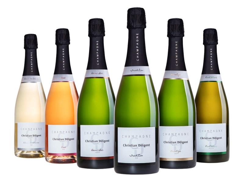Les 6 cuvées du Champagne Christian Diligent