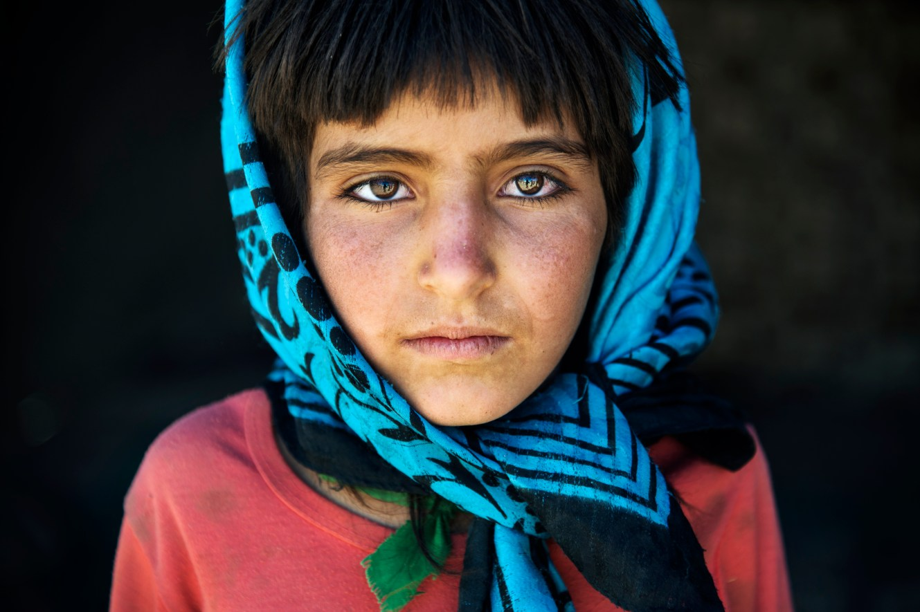 A Bakhtiyari girl in the Bazoft Valley west of Shahr-e-Kord. The family lives as nomads for 8 months of the year. The Iranian government has repeatedly tried to settle the nomads, but there is still about a million people living as nomads in Iran.