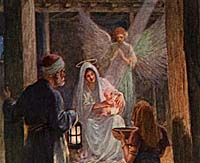 Angel present at Jesus birth.