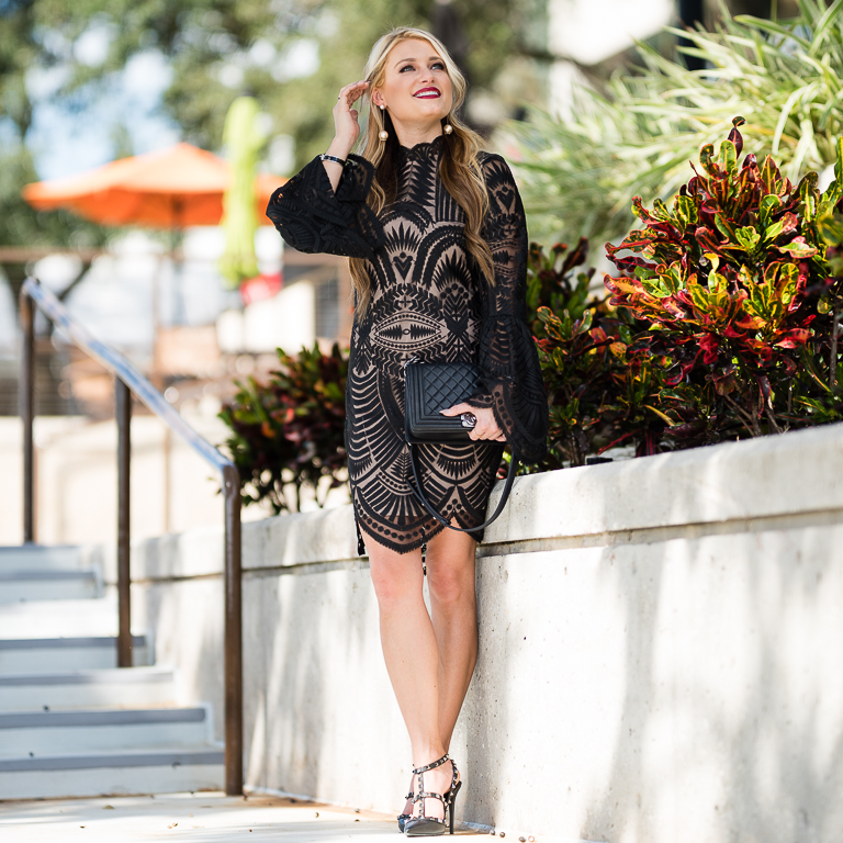 Affordable Flattering Lace Dress Christian Blair Style