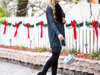 faux leather leggings, sparkle sweater, new years, sparkle, faux fur, fur stole, saint laurent handbag
