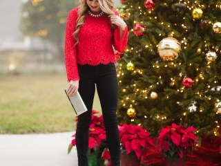 red lace, alice and olivia, black jeans, coated denim, sparkle, jimmy choo clutch, leopard pumps, christian louboutin