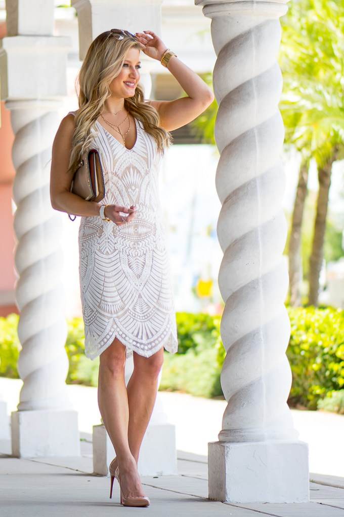 bardot, white lace dress, easter, valentino, christian louboutin pigalle, nordstrom