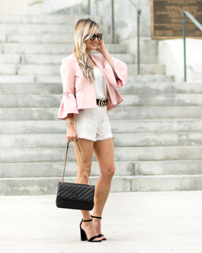 chanel bag prada sunglasses bell sleeves