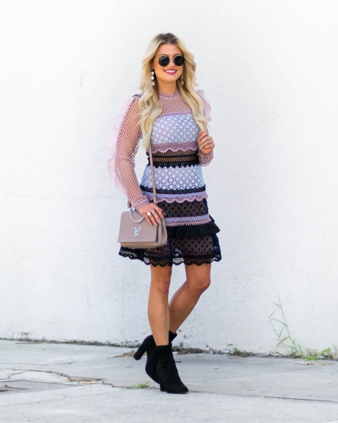 mr self portrait lace dress