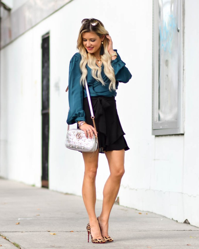 fit and flare high waisted skirt