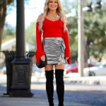 metallic ruffle skirt