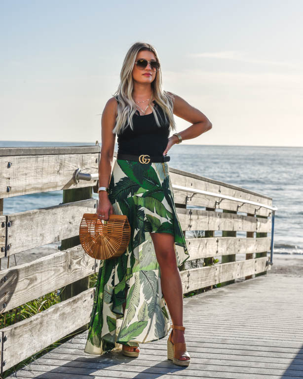32751bbb41f6 Palm Print Skirt   Tank  Easy Summer Vaca Look
