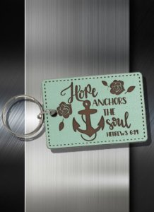 Key ring Hope Anchors the Soul Heb 06 19