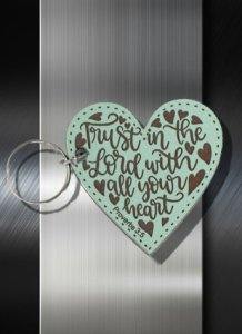 Key ring Trust in the Lord with All Your Heart Proverbs 3 5