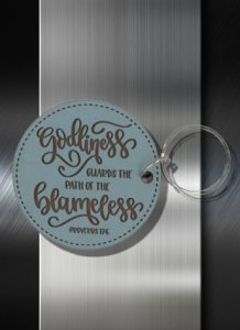 Key ring Godliness Guards the Path of the Blameless Proverbs 13 06
