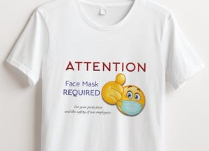 Christian Books and Gifts | Women's T-Shirt | COVID-19 ~ Coronavirus | Face Mask Required