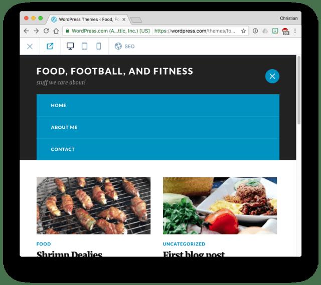 WordPress.com changed menu