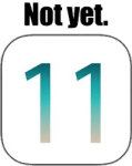 iOS 11... not yet!