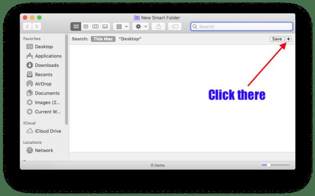 Smart Folders: click the plus