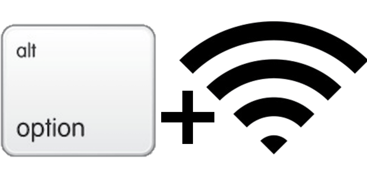 Option key plus WiFi symbol