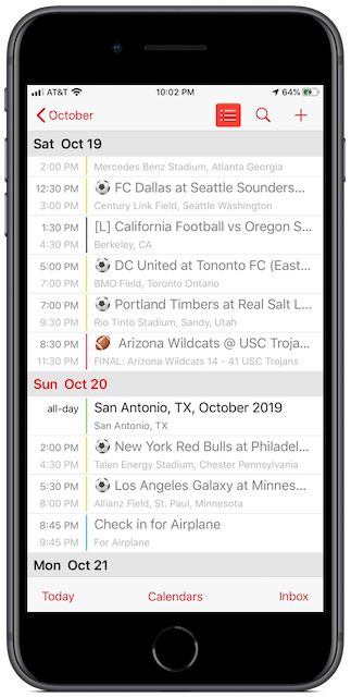 MLS Playoffs Calendar for iPhone and Mac