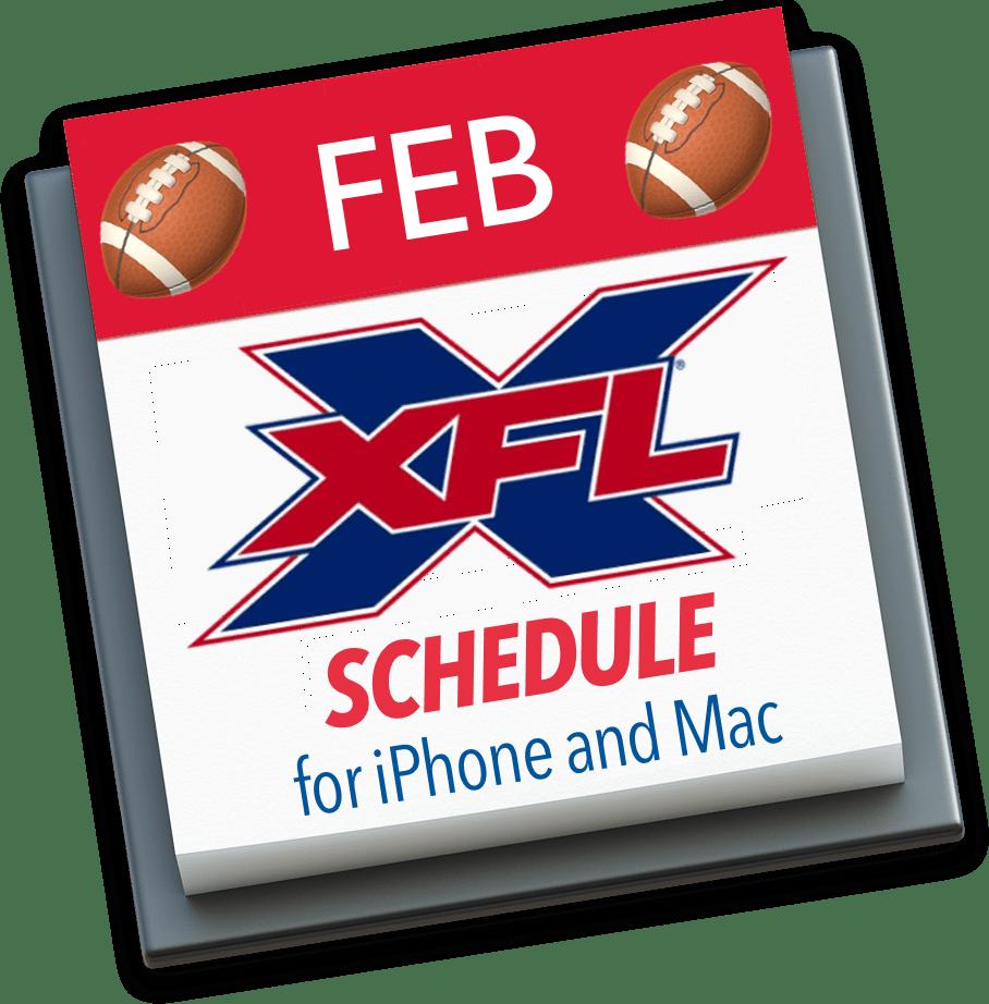 XFL Calendar