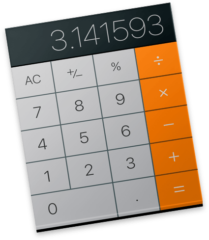 The Mac's Calculator app icon