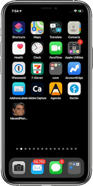 Web page shortcut icon added to iPhone Home Screen in iOS 14