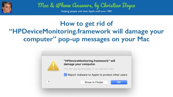 How to get rid of HPDeviceMonitoring.framework pop-up featured image