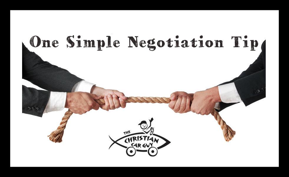 Negotiation Tip